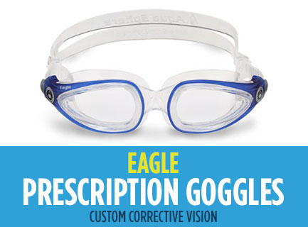 Prescription Swimming Goggles by Aqua Sphere Australia